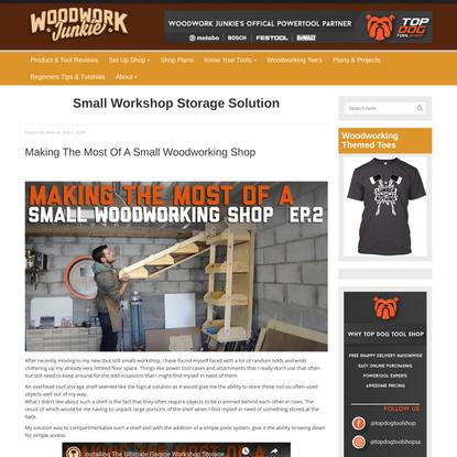 Small Workshop Storage Solution | Woodwork Junkie