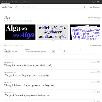 Alga from Nova Type Foundry