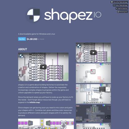 shapez.io by Tobias Springer