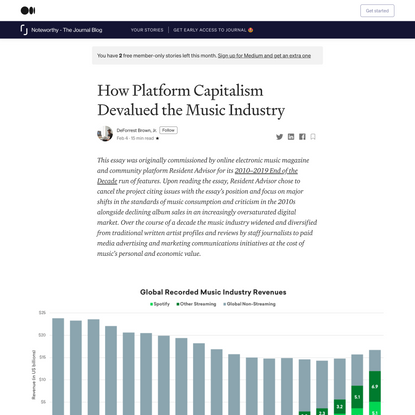 How Platform Capitalism Devalued the Music Industry