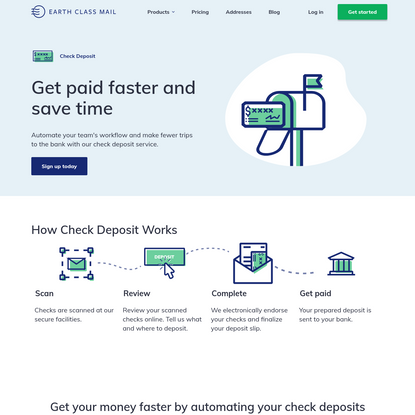 Automated Check Deposits | Earth Class Mail