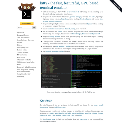 kitty - the fast, featureful, GPU based terminal emulator - kitty 0.19.1 documentation