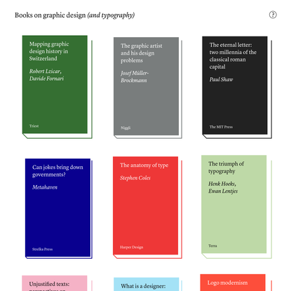 Books on graphic design (and typography)