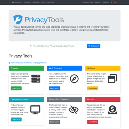 PrivacyTools - Encryption Against Global Mass Surveillance