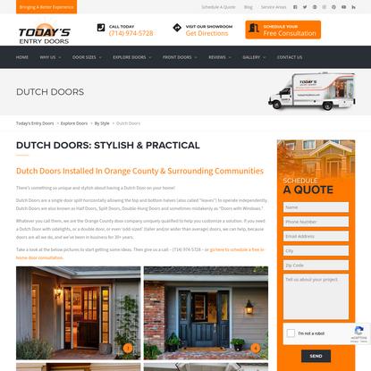 Dutch Doors | Today's Entry Doors