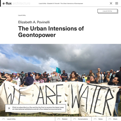 The Urban Intensions of Geontopower