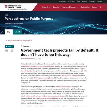 Government tech projects fail by default. It doesn't have to be this way.