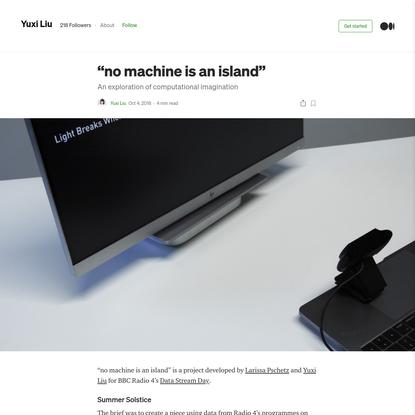 """no machine is an island"""