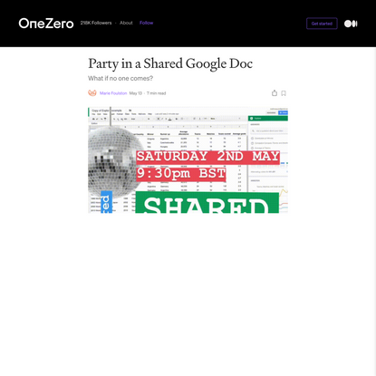 Party in a Shared Google Doc
