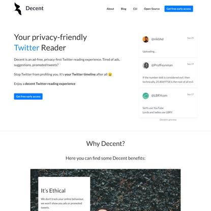 A Privacy-friendly, Decent Twitter Client
