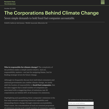 The Corporations Behind Climate Change
