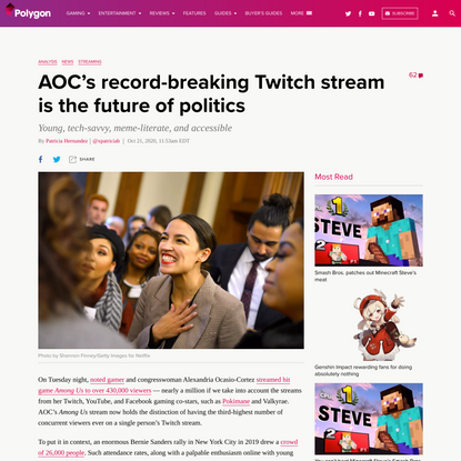 AOC's record-breaking Twitch stream is the future of politics
