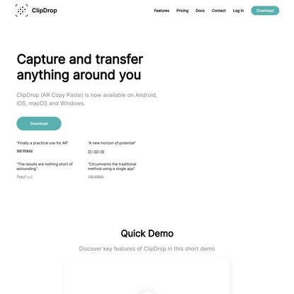 ClipDrop (AR Copy Paste)