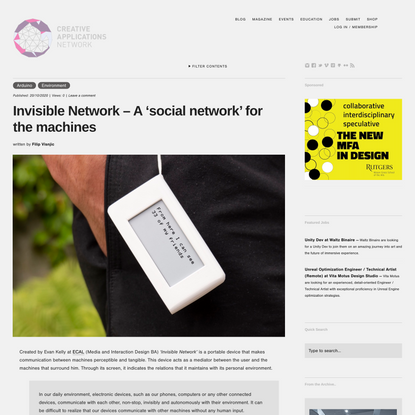 Invisible Network – A 'social network' for the machines