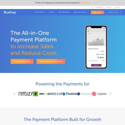 Online Payment Solutions | BlueSnap
