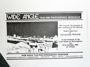 Wide Angle Film and Photography Workshop