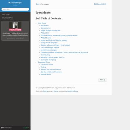 ipywidgets - Jupyter Widgets 7.5.1 documentation