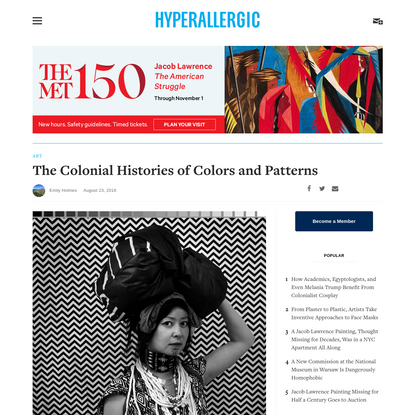The Colonial Histories of Colors and Patterns
