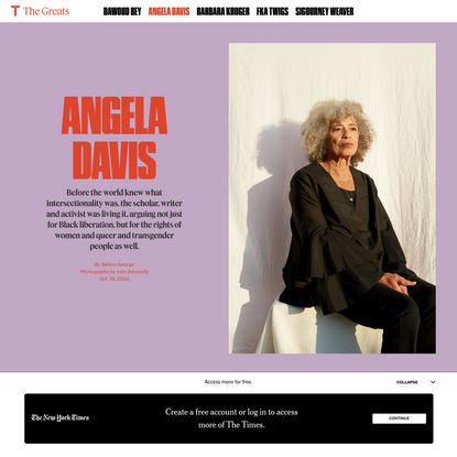 Angela Davis Still Believes America Can Change