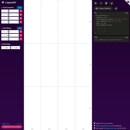 Layoutit Grid - CSS Grids layouts made easy!