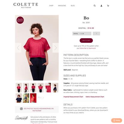 Bo by Colette Patterns