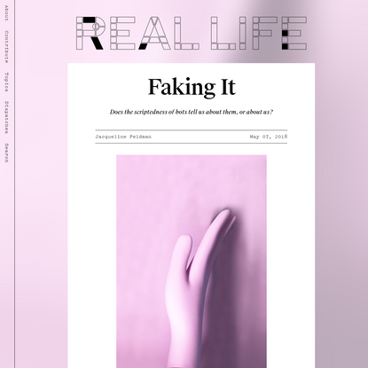 Faking It - Real Life