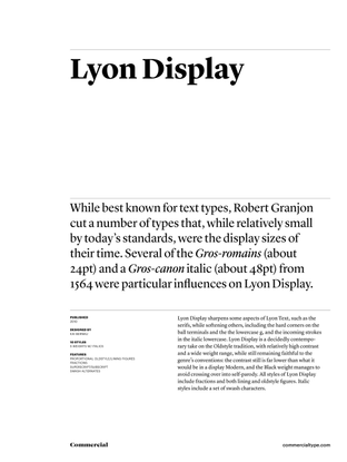 Lyon Display —Commercial Type