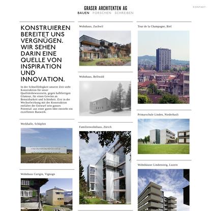 Bauen | Graser Architekten AG