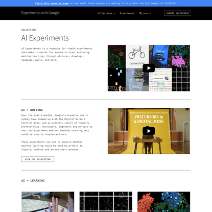AI Experiments   Experiments with Google
