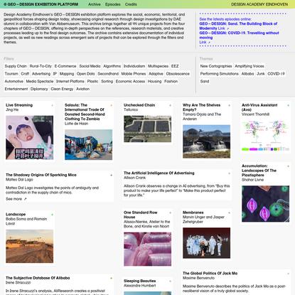GEO-DESIGN Exhibition Platform