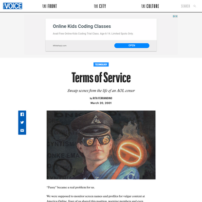 Terms of Service | The Village Voice