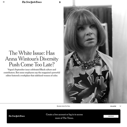 The White Issue: Has Anna Wintour's Diversity Push Come Too Late?