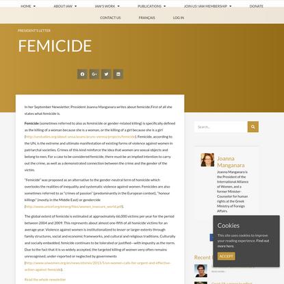 Femicide - International Alliance of Women
