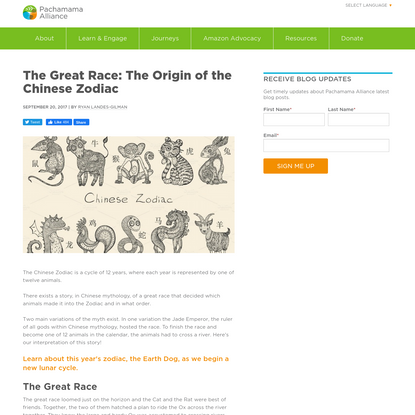 The Great Race: The Origin of the Chinese Zodiac