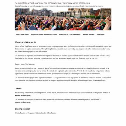 Feminist Research on Violence / Plataforma Feminista sobre Violencias