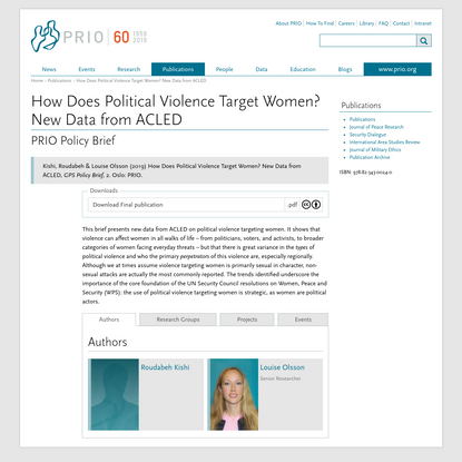 How Does Political Violence Target Women? New Data from ACLED