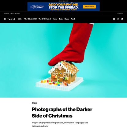 Photographs of the Darker Side of Christmas