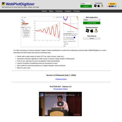 WebPlotDigitizer - Extract data from plots, images, and maps