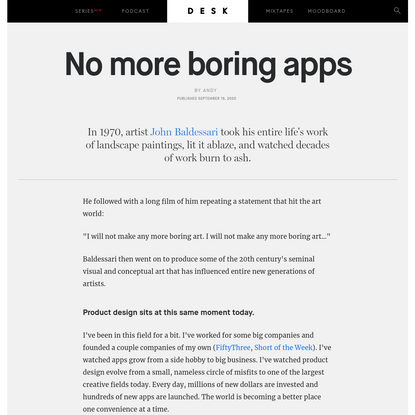 No more boring apps - DESK Magazine