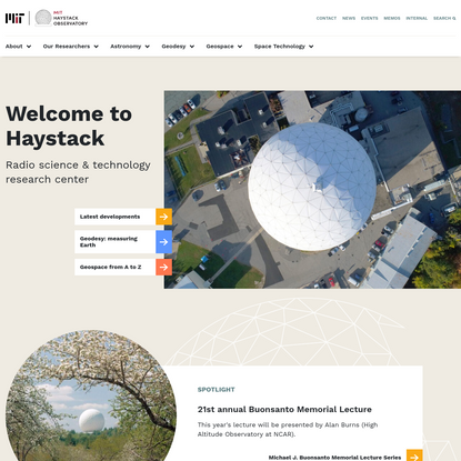MIT Haystack Observatory - Radio science & technology research center