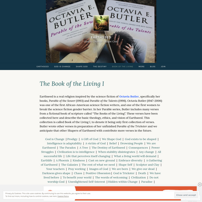 The Book of the Living I – Earthseed