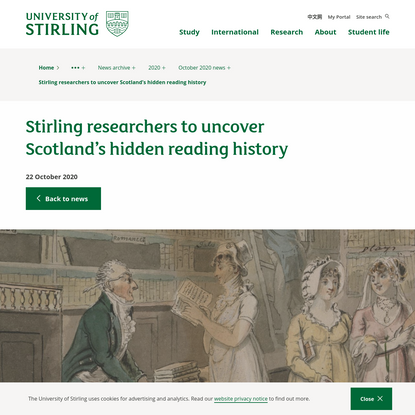 Stirling researchers to uncover Scotland's hidden reading history