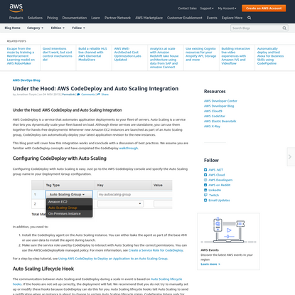 Under the Hood: AWS CodeDeploy and Auto Scaling Integration | Amazon Web Services