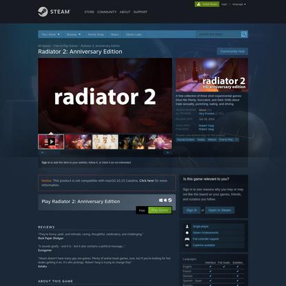 Radiator 2: Anniversary Edition on Steam