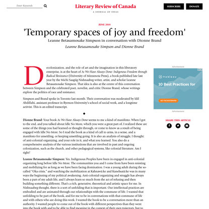 'Temporary spaces of joy and freedom' | Literary Review of Canada
