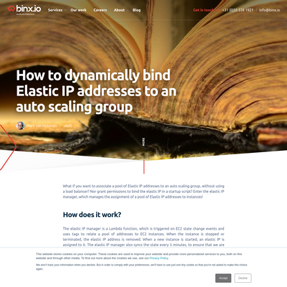 How to dynamically bind Elastic IP addresses to an auto scaling group - Binx