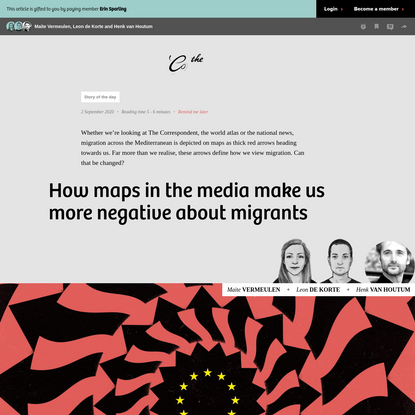 How maps in the media make us more negative about migrants - The Correspondent