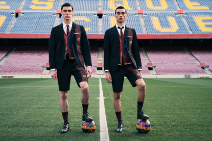 Give Back by Suiting up in Thom Browne's Charitable FC Barcelona Capsule Collaboration
