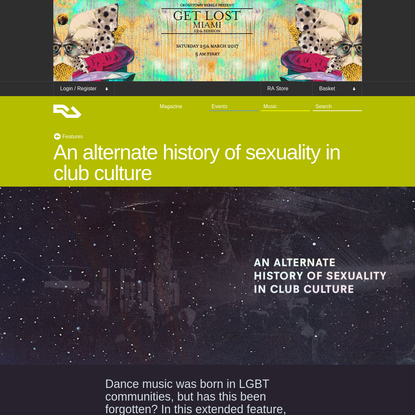 An alternate history of sexuality in club culture