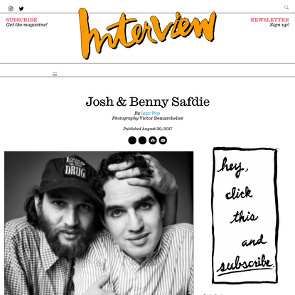 Josh & Benny Safdie - Interview Magazine